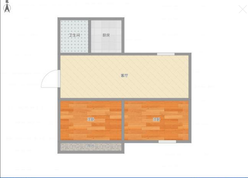香港街2室2厅中装房南北通透