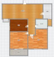 万达广场中间楼层精品小三室