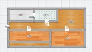 金丰易居精装两房,多层一楼,采光好,楼位佳