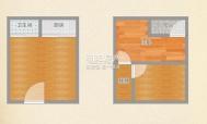 金地国际城A区精装 复式2室1厅1厨1卫交通便利 矿一中分校