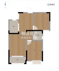 上郑广场92平毛坯两房送车位