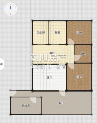 柏园南村3室2厅普装稀缺一楼带院子出售_12