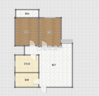 万达广场2室1厅精装修好房出售_12