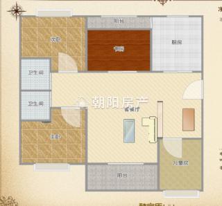 金地国际城A区4室2厅精装出售_13