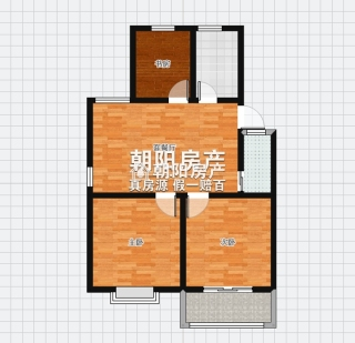 金丰易居二期普装三室一厅,多层四楼,户型周正_11