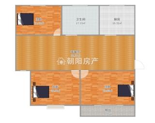 九龙新村精装三室两厅楼层好_8