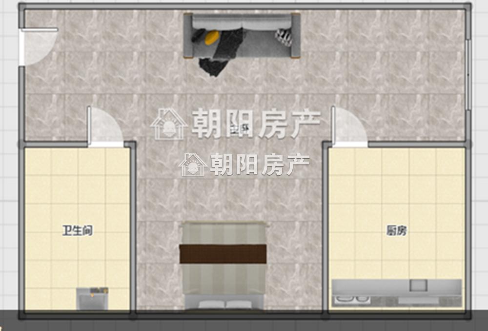 萬達廣場1室1廳精裝公寓好房出售 樓層好