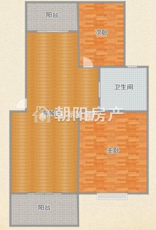 毛坯两室两厅二楼晟地绿园多层住宅_10