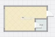 新世界楼上 东方国际广场 1室1厅 精装公寓 拎包入住