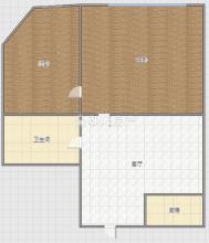 中央国际广场2室1厅简装出售 楼层好 两卧朝南 边户