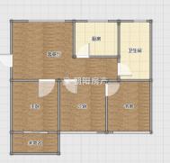 龙泉北村精装三居室多层好楼层南北通透采光好