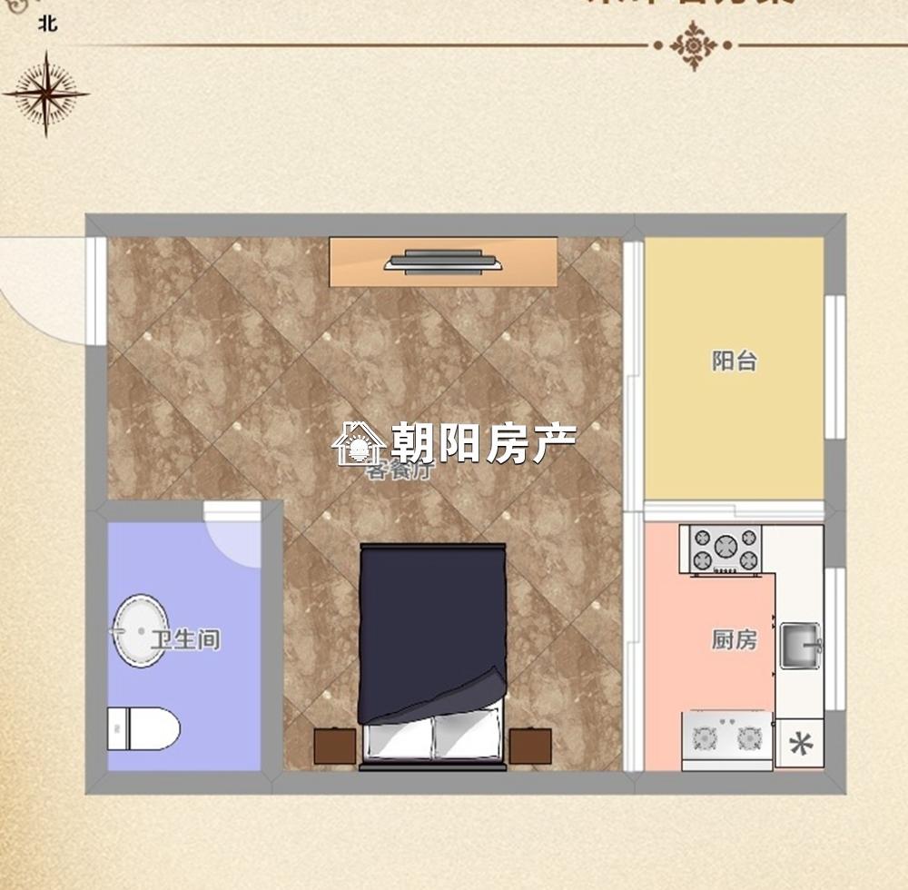 国庆东路万达广场一室一厅精装小公寓第五小学