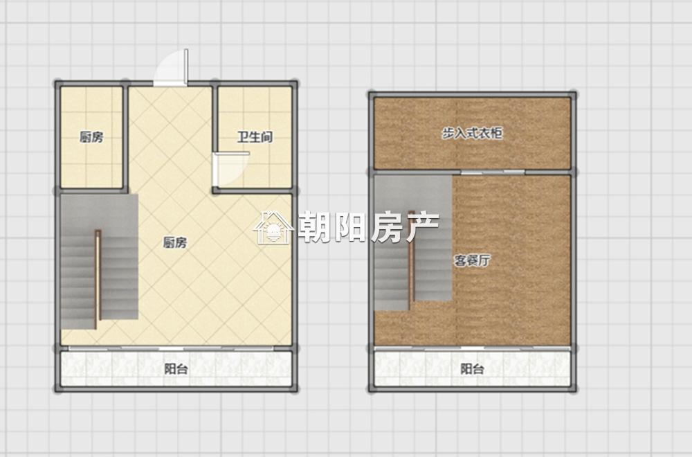 龙湖路一号复式房两室一厅精装修前锋小学
