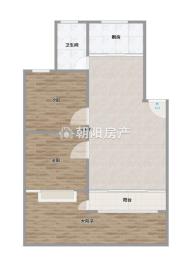 金丰易居二期两室两厅中等装修保持的非常好