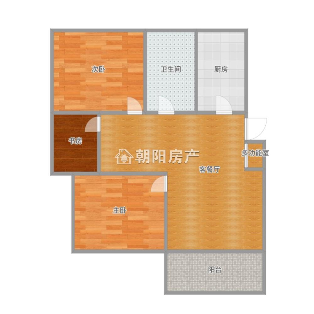 上品印象三室两厅精装修采光好老证