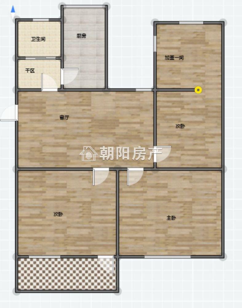 洞二小本部学区房 华声苑 精装  4室1厅  中间楼层 出售