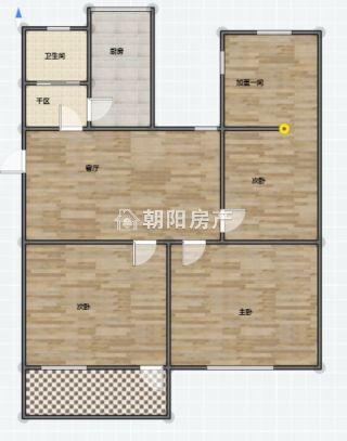 洞二小本部学区房 华声苑 精装  4室1厅  中间楼层 出售_9