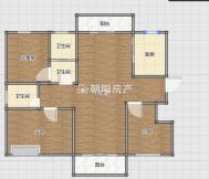 公園里3室2廳毛坯中間樓層采光好環境好