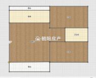 心享世城一期简装两室两厅出售采光好