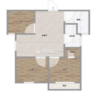 西湖春天3室2廳毛坯房出售_16