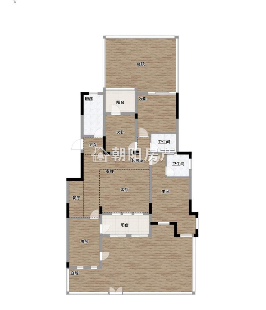 金地滟澜山一楼3室2厅 有学区 毛坯送车位 边户 超大院子