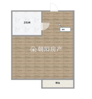 上品印象饕街公寓49.33平方1室1厅毛坯房 民生校区_11