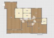 力達明和綠洲3室2廳毛坯電梯房出售 送入戶花園