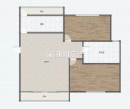 瑞福居普装两室两厅出售