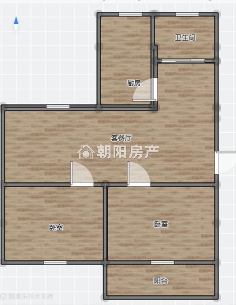 天桥小区,2楼,精装婚房,2室1厅,拎包入住