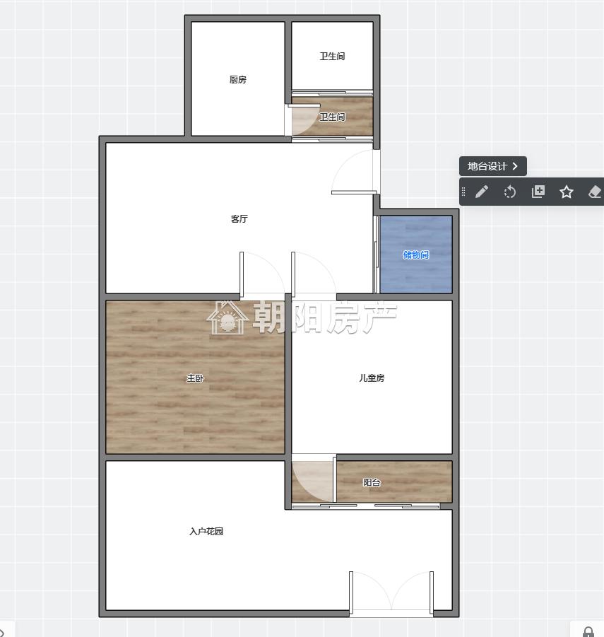 前锋花园2室1厅普装1楼带大院子低价出售