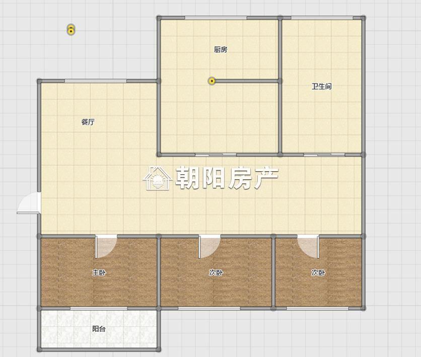 龙腾小区三室一厅精装拎包入住