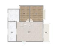 南门口天宝花园2室2厅简单装修98.6平花园小学