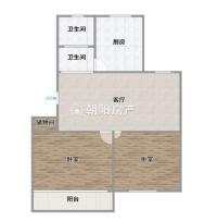 华声苑精装好楼层学区未用2室2厅一厨1卫1阳台出售