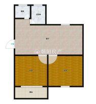 兰亭小区4楼毛坯两室一厅68平好房出售